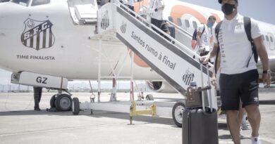 Santos chega no Rio de Janeiro e terá atividades no CT do Fluminense