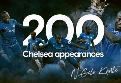 Kanté bate 200 jogos com a camisa do Chelsea