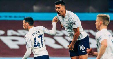 City vence Aston Villa fora de casa e está a 9 pontos de se tornar campeão da Premier League.