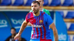 Aguero em ação pelo Barcelona